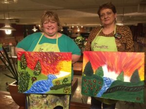 Diana & Katie_WIC Week Event Paint Night